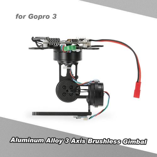 Lega di alluminio 3 assi brushless giunto cardanico con Storm32 BGC Pannello di controllo per GoPro 3 4 DJI F450 F550 Cheerson CX-20 Fotografia aerea