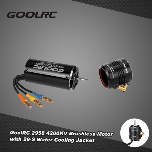 Original GoolRC 2958 4200KV Brushless Motor and 29-S Water Cooling Jacket Combo Set for 600-800mm RC Boat