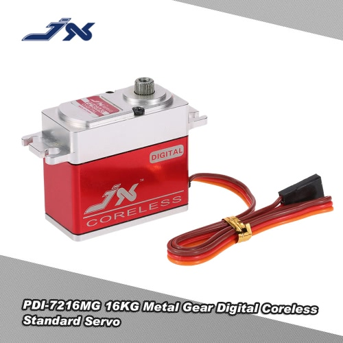 JX PDI-7216MG 16KG Metal Gear Digital Coreless Standard Servo for RC 550-700 Airplane Helicopter