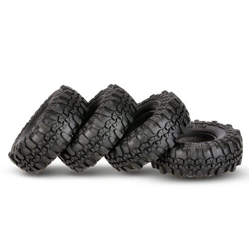 4Pcs AUSTAR AX-4020 1.9 Inch 110mm 1/10 Rock Crawler Tires for D90 SCX10 AXIAL RC4WD TF2 RC Car