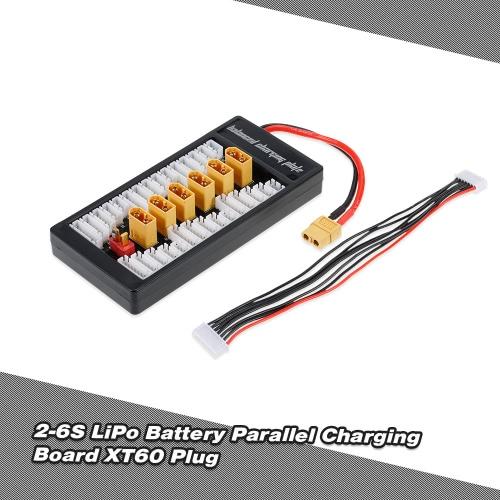 2-6S LiPo Battery Parallel Charging Adapter Board XT60 Plug Balance Plate for Imax B6 B6AC