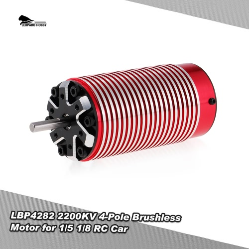 LEOPARD HOBBY LBP4282 2200KV 4-Pole Brushless Motor for 1/5 1/8 Traxxas HSP Redcat RC4WD Tamiya Axial HPI RC Car