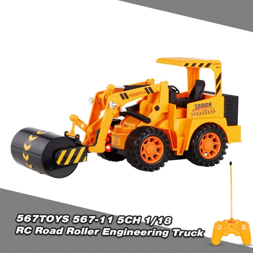 567TOYS 567-11 1/18 5CH RC Road Roller Engineering Truck RC Car