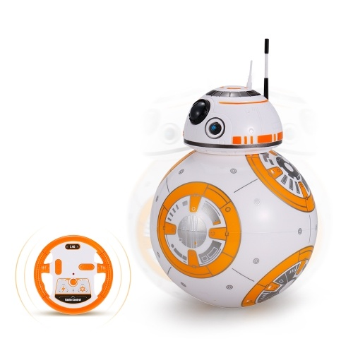 BB-8 2.4GHz RC Robot bola control remoto Planet Boy con sonido Star Wars Toy Niños regalo