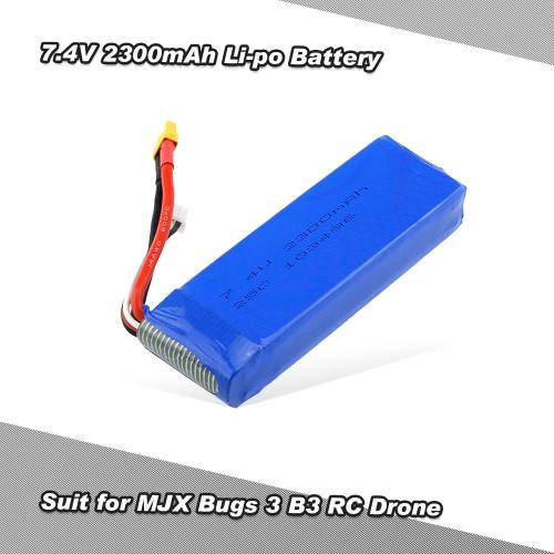 7.4V 2300mAh 25C Li-po Battery with XT30 Plug for MJX Bugs 3 B3 RC Drone Quadcopter