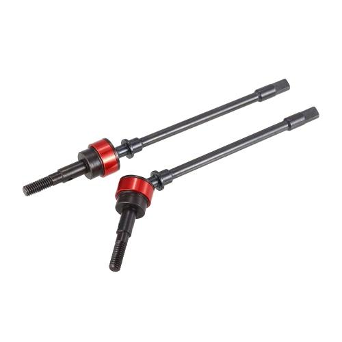 2PCS acero duro CVD unidad eje Dogbone para 1/10 Axial SCX10 90022 90021 90035 RC Rock Crawler
