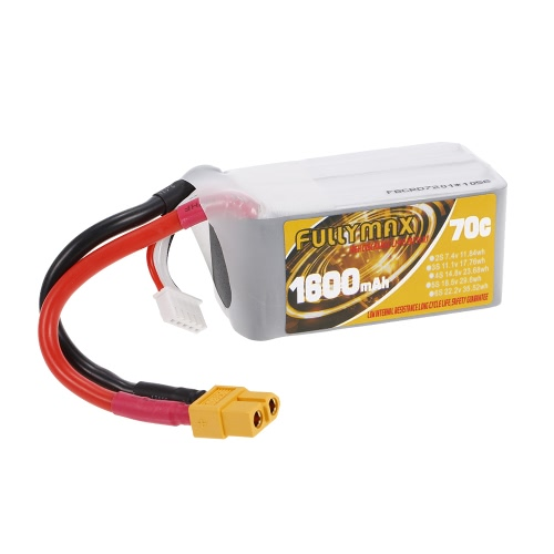 FULLYMAX 4S 14.8V 1600mAh 70C High Rate XT60 Wtyczka LiPo Bateria do QAV210 250 FPV Quadcopter wyścigowy RC Car Boat