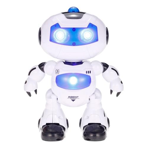 Giocattoli di LEZHOU 99333 Robot di telecomando che cammina illuminazione Giocattolo elettrico musicale dei bambini Regalo dei capretti