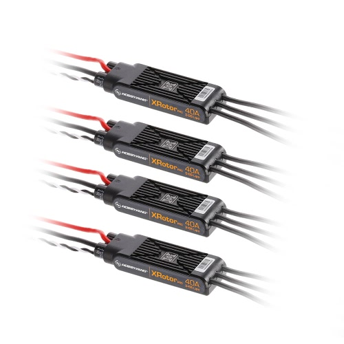 4Pcs Original Hobbywing XRotor Pro 40A ESC 3-6S Wire Leaded para 450-650 RC Quadcopter Drone