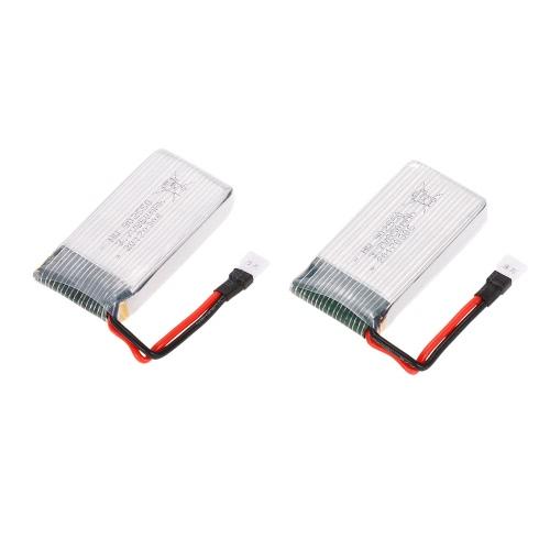 2pcs 3.7V 850mAh LiPo Batterie für GoolRC T32 FPV Quadcopter