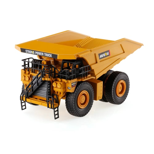 HUI NA TOYS 1912 1/40 Mining Dump Truck Engineering Vehicle Car Kids Toy Gift Housing Decoration   Collection