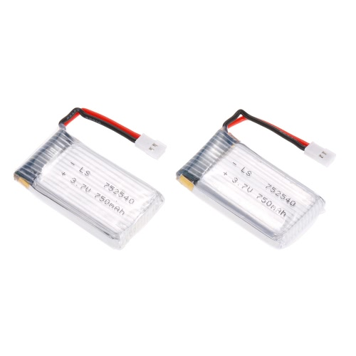 2pcs 3.7V 750mAh LIHV Li-po Battery for Syma X5C and 80-120 Micro Indoor FPV Drone RC Quadcopter