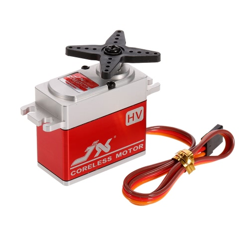 JX PDI-HV7232MG 6V-8.4V 0.09sec/60° Digital Coreless Motor Servo 31.5kg Torque Aluminums Case for 1/10 1/8 RC car/HHK Big airplane