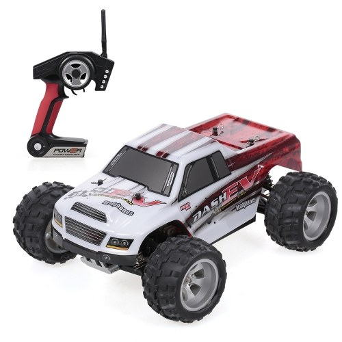 WLtoys A979-B 2.4G 1/18 RC Car 4WD 70KM/H High Speed Electric Full Proportional Big Foot Truck RC Crawler RTR