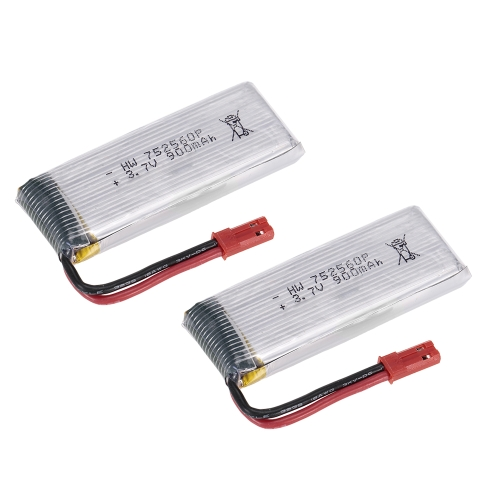 2pcs 3.7V 900mAh Li-po Battery for 8807W Wifi FPV Drone Quadcopter