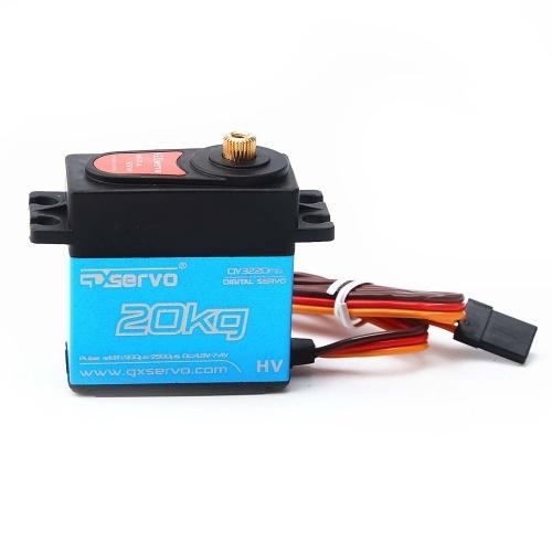 Leistung HD LW-20MG 20Kg wasserdichtes hohes Drehmoment-Digital-Servo mit Metallgang für RC 1/10 1/8 nicht für den Straßenverkehr Auto-Buggy-LKW
