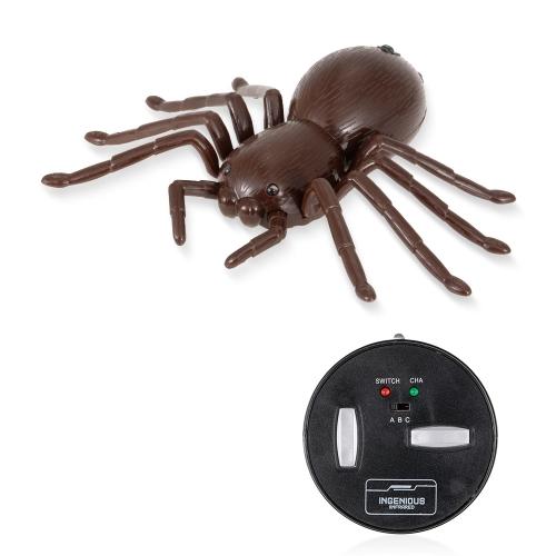 Control remoto por infrarrojos simulación araña juguete aterrador RC Animal regalo de Navidad para niños