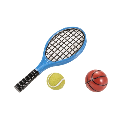 Simulation Basketball Tennis and Tennis Racket RC Decoration Tool DIY Kit for 1/10 RC Crawler Off-road Car Monster Truck