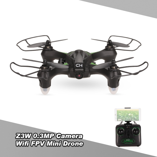 Z3W 0.3MP Camera Wifi FPV Drone One Key Return G-sensor APP Control RC Quadcopter Toy