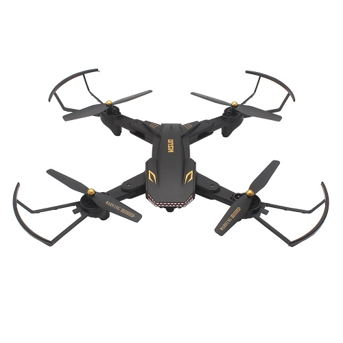 VISUO XS809S 2.0MP Wide Angle Camera Wifi FPV Foldable Drone One Key Return Altitude Hold G-sensor Quadcopter w/ Two Extra Battery