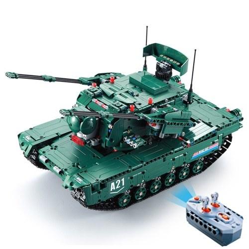 DUPLO E C61001W 1498 PCS Blocos de Construção 1/20 Transformable M1A2 Veículo Tanque de Brinquedo RC