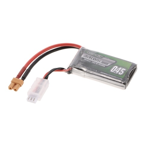 7.4V 450mAh 30C 2S Rechargeable Li-Po Battery with XT30 Plug for RC Racing Drone Quadcopter Helicopter Airplane Car Truck
