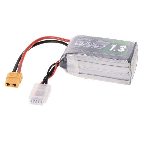 14.8V 1300mAh 60C 4S Rechargeable Li-Po Battery with XT60 Plug for RC Racing Drone Quadcopter Helicopter Airplane Car Truck