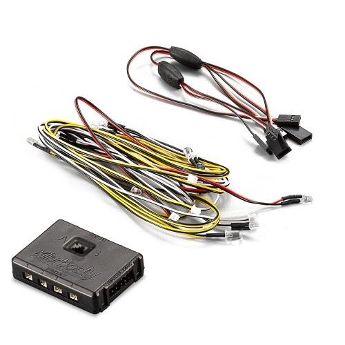 Set di lampade a LED con scatola di controllo 14 LED White Red Yellow per KB48601 1/10 Toyota Land Cruiser RC Car