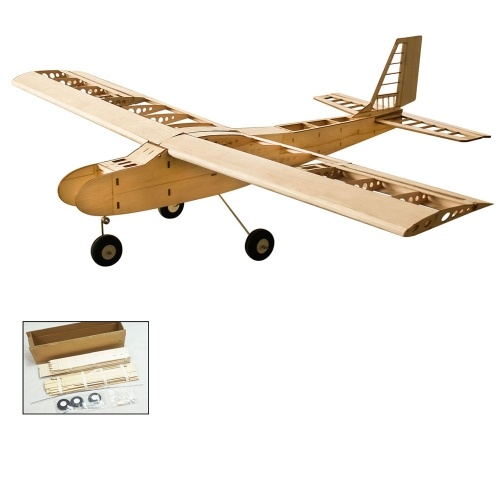 DW Hobby T4001 Balsa Wood 1550mm Apertura alare Biplano RC Aircraft Toy KIT Aereo per DIY
