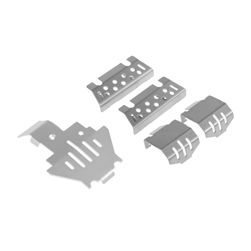 5PCS Axle Schutzgitter Skid Plate Stoßstange Chassis Guard