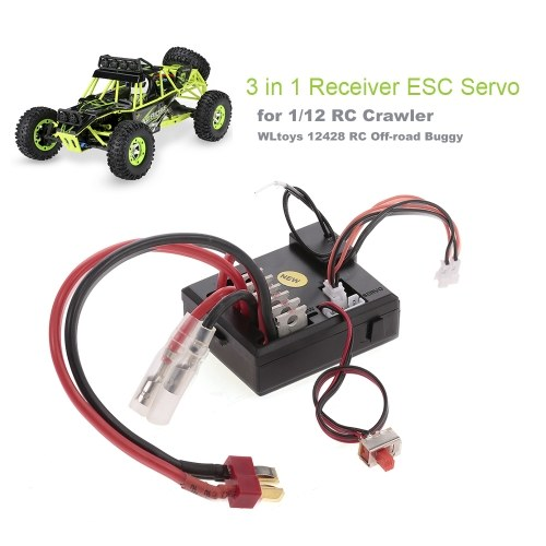 Original 3 in 1 Receiver ESC Servo for 1-12 RC Crawler WLtoys 12428 Part RC Off-road Buggy Car
