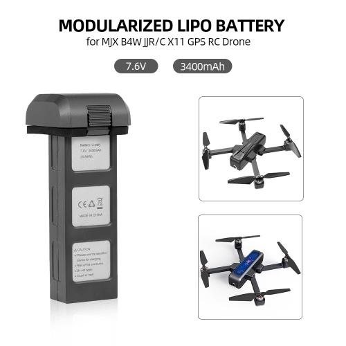 Батарея Lipo 7.6 В 3400 мАч Модульная батарея беспилотников для MJX B4W JJR / C X11 RC Drone Wi-Fi FPV Quadcopter
