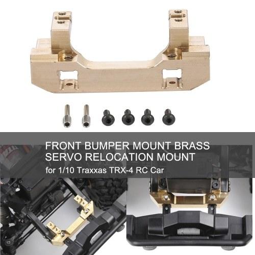 Supporto per paraurti anteriore Supporto di trasferimento servo materiale in ottone per 1/10 Traxxas TRX-4 RC Car