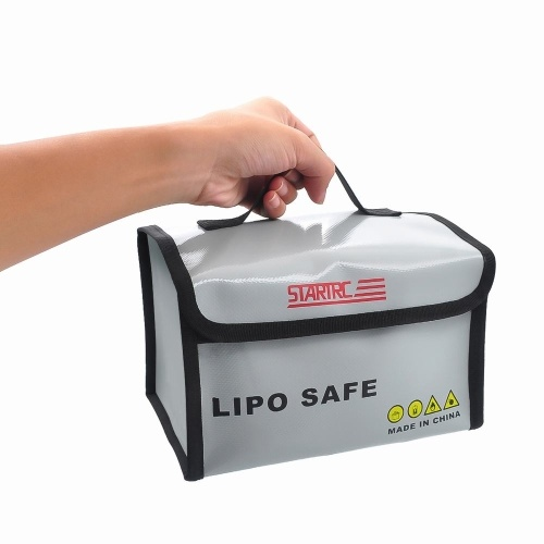 STARTRC Waterproof Fireproof Explosionproof Lipo Safe Bag with Active Divisions Compartments Battery Handbag