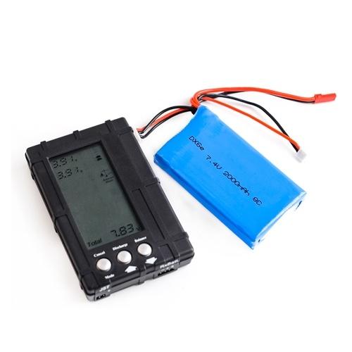 Batterie Lipo 2S 7.4V 2000mAh pour télécommande Spektrum DX6e DX6 DX8