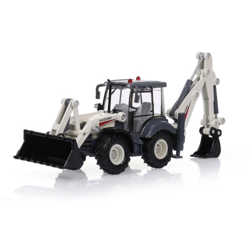 1:50 4 Wheel Shovel Loader Two-way Forklift Bulldozer Backhoe Loader Truck Model