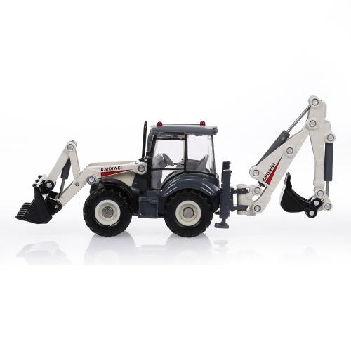 1:50 4-Rad-Schaufellader Zweiwege-Gabelstapler-Bulldozer-Baggerlader-LKW-Modell