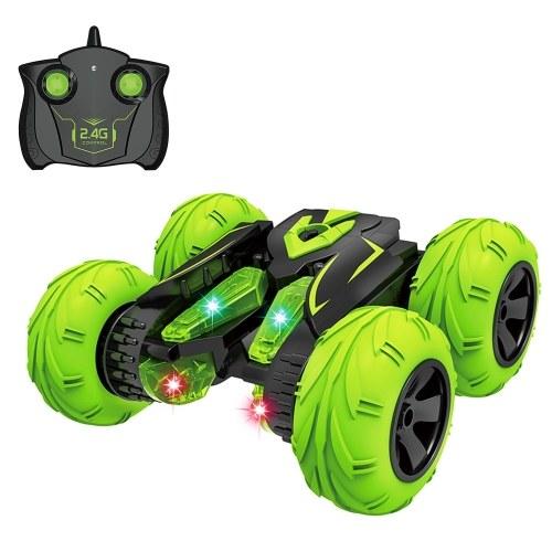 2.4Ghz 3D Rotating Drift Fancy Stunt Car Racing Drift Deformation Buggy LED Flip Car Robot