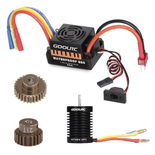 GoolRC 9T Motor 3650 4370KV Brushless Motor 60A ESC Electronic Speed Controller
