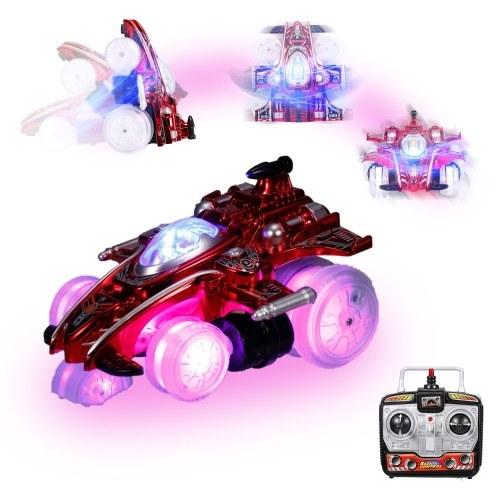 2.4G carro de conluio de controle remoto 360 ° Revolve Drift RC Car Toy com luzes LED piscando