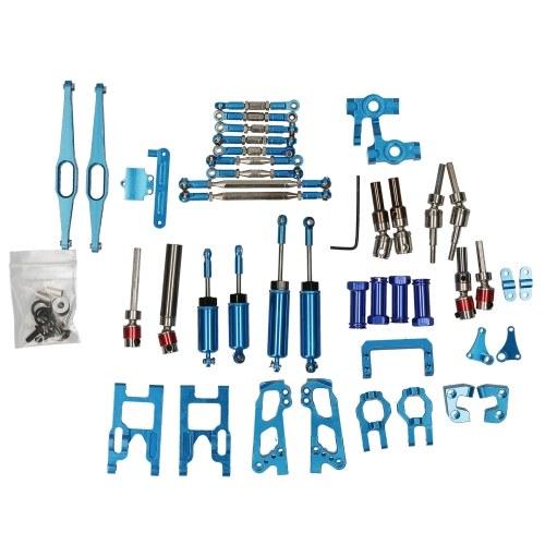 17pcs Metal C Hub Steering Hub Rear Hub Transmission Drive Shaft Shock Absorber Pull Rod Kit for Wltoys 12428 12423 1/12 RC Car