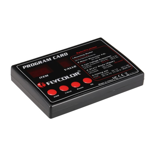 Oryginalny Flycolor Programowanie karty dla RC Statki ESC elektroniczny regulator prędkości