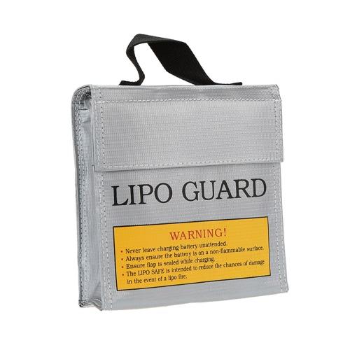 15.5 * 15.5 * 5cm Argent Haute qualité en verre fibre de verre RC LiPo Sacoche de sécurité Sac de charge sécuritaire