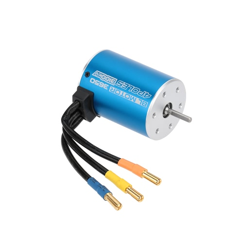 3650 3100KV 4 Poles Sensorless Brushless Motor for 1/10 RC Car