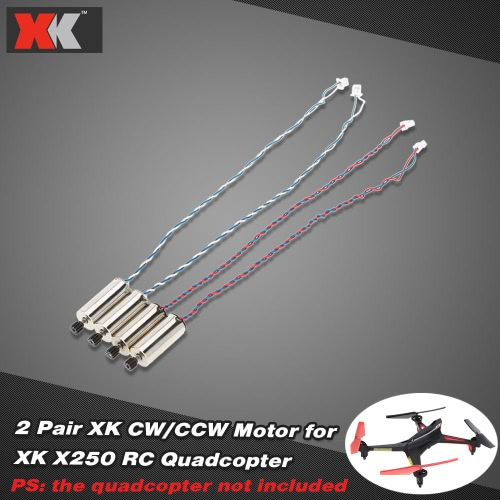 2 Pair Original XK X250-02 CW/CCW Motor for XK X250 RC Quadcopter