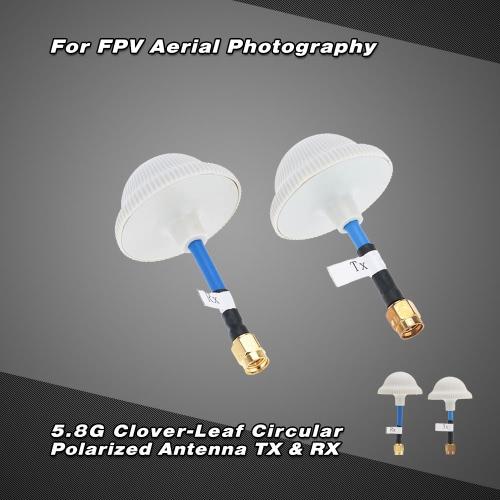 5.8G クローバーリーフアンテナ TX & RX  SMA-Jコネクタ付き RCクワッドローターMulticopter FPV適用