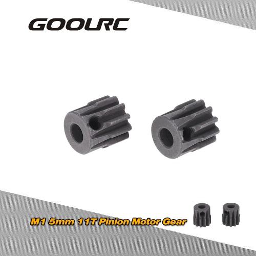 GoolRC 2Pcs M1 5mm 11T piñón engranaje del Motor de coche RC 1/8 cepillado Motor sin escobillas
