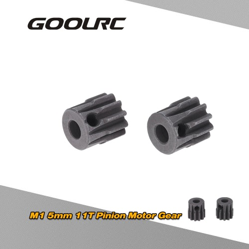 GoolRC 2Pcs M1 5mm 11T Pinion Motor Gear for 1/8 RC Car Brushed Brushless Motor