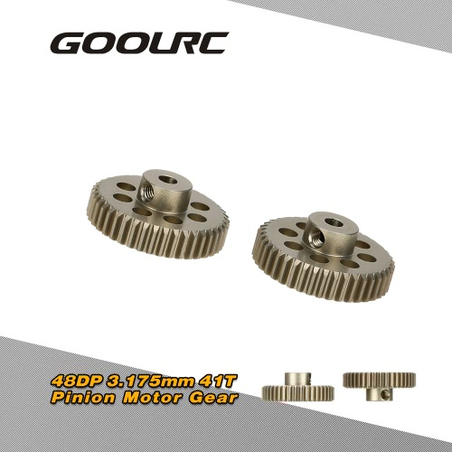 GoolRC 2Pcs 48DP 3.175mm 41T Pinion Motor Gear for RC Car Brushed Brushless Motor
