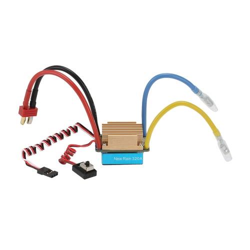 Contrôleur de vitesse électronique à balayage étanche 320A avec 5 V / 3A BEC T-Plug pour voiture 1/10 RC